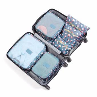 Bộ 6 túi du lịch kiểu hàn quốc chống thấm RainStore - Hoa Xanh