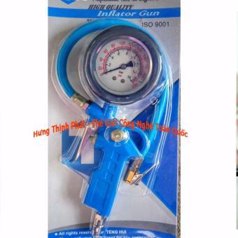 Bộ bơm lốp oto xe máy đồng hồ áp suất ngâm dầu hàng cao cấp
