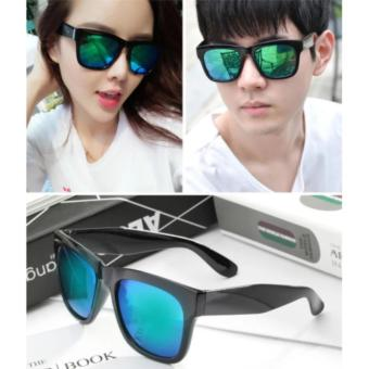bộ đôi 2 mắt kính tráng gương chống tia cực tím (Xanh)