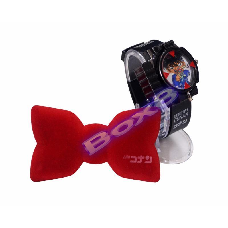 Bộ đồng hồ Conan chiếu đèn Laser và nơ Conan thu âm giọng nói bán chạy