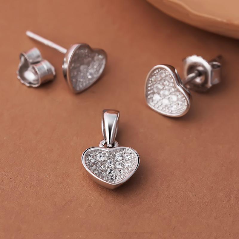 Bộ trang sức bạc Leona Love | Eropi