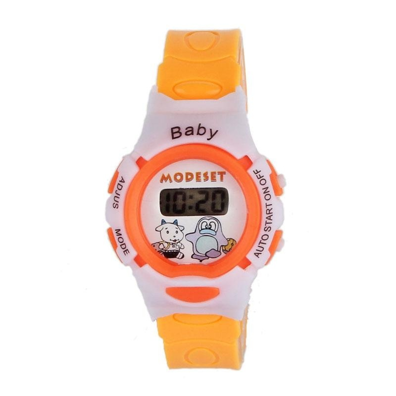 Nơi bán Boys Girls Students Time Electronic Digital Wrist Sport Watch Orange - intl