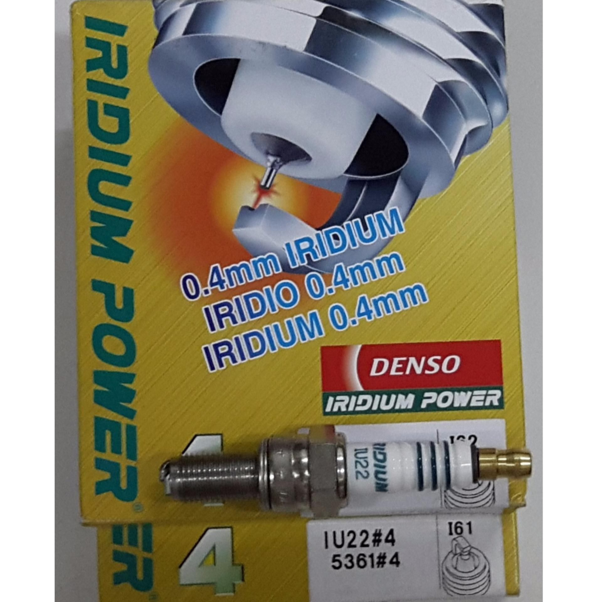 1 Bugi DENSO JAPAN Iridium IU22 (AB110;Lead 110;Vision;Wave RS/RSX/S110;Blade;Fu Neo Fi;Fu II;Excel;Su EN150;Impulse) - Made in Japan.