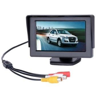 Camera Quan Sát Phía Sau 4.3'' TFT LCD DVD VCR CCTV Dành cho Xe hơi - quốc tế