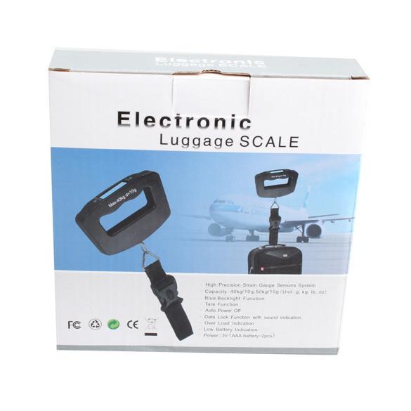 Cân Điện Tử Cầm Tay Electronic 50Kg Du Lịch Cân Hành Lý - Quốc Tế