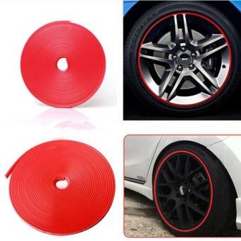 Car Wheel Hub Tire Sticker Car Decorative Styling Strip Wheel/Rim/Tire RED - intl