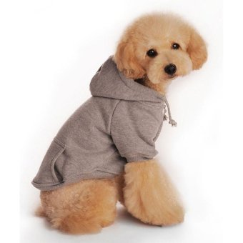 chechang Fashion Soft Cotton Dog Hoodie Pet Clothes - intl