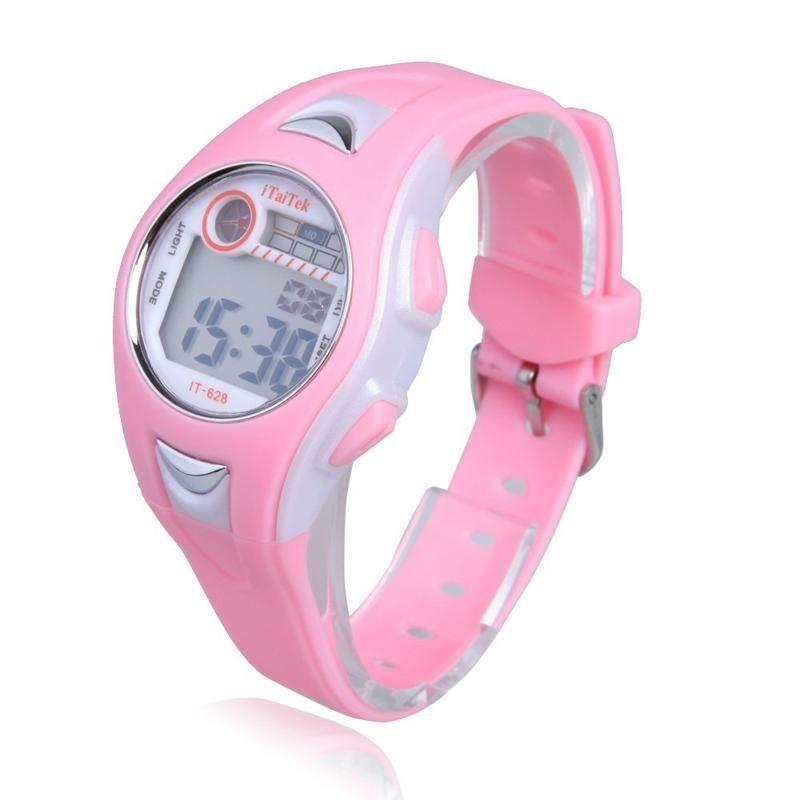 Nơi bán Children Boys Girls Swimming Sports Digital Wrist Watch Waterproof Pink - intl