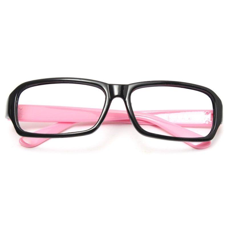 Mua Children Kids Girls Unisex Anti-fatigue Goggles Games Eyeglasses Frame No Lenses Black-Pink - Intl