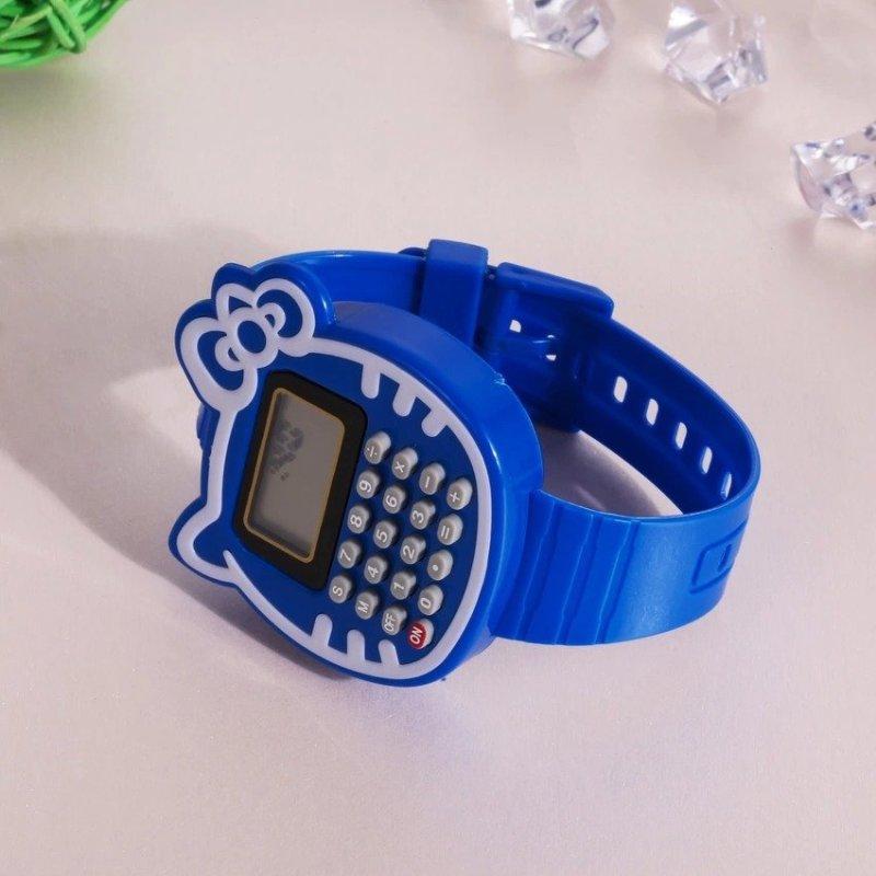 Children Silicone Date Multi-Purpose Kids Calculator Wrist Watch(Blue) - intl bán chạy