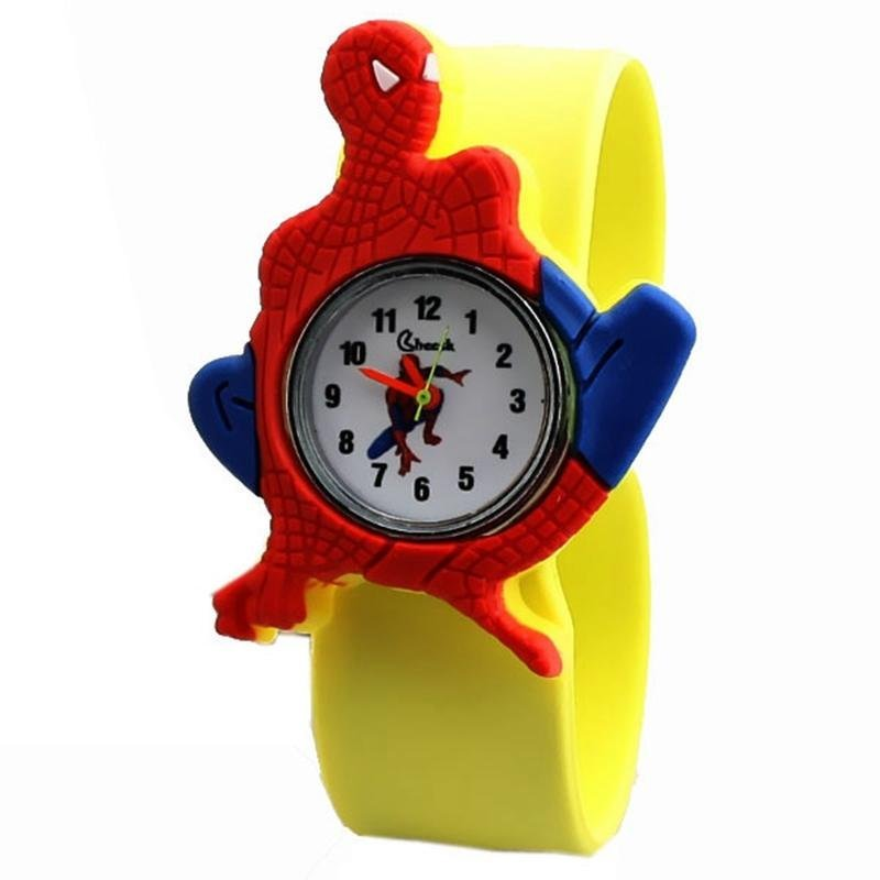 Nơi bán Children's Q Version of the New Pat Style Table Student Tape Silicone Spider Man Watch - intl