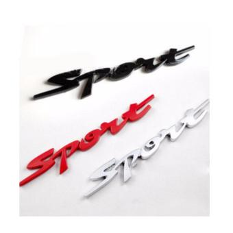 Chữ SPORT 3D dán ô tô màu đen -AL