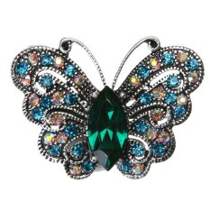 Địa Chỉ Bán Colorful Butterfly Shaped Corsage Retro Brooch Decor – intl   crystalawaking
