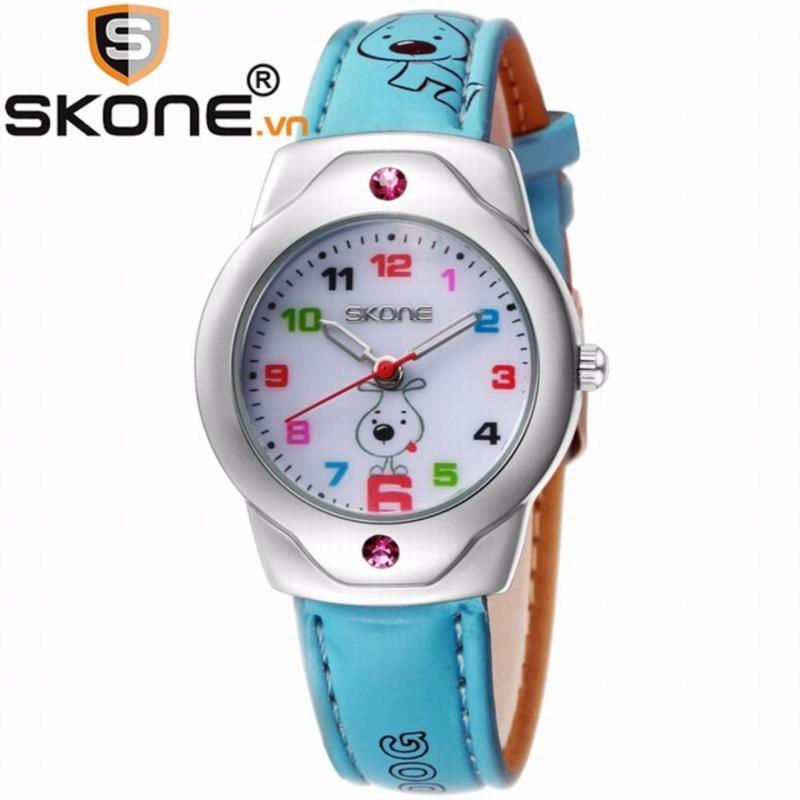 Combo 02 đồng hồ bé gái SKONE - dây da 3149-2 bán chạy
