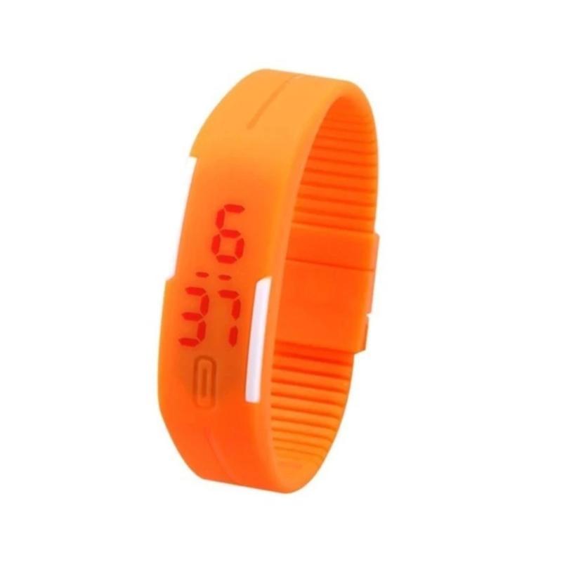 Nơi bán combo 2 Đồng hồ led dây nhựa Sport LED (cam)
