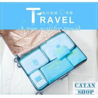 Combo 6 Túi Đựng Đồ Du Lịch xếp đồ gọn gàng trong vali Chống Thấm Bag in Bag GD40-6Tvali