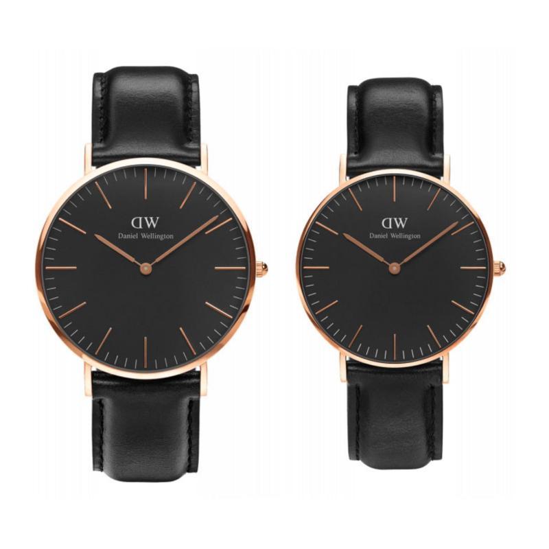 Nơi bán Combo cặp đồng hồ Daniel Wellington DW CLASSIC BLACK SHEFFIELD 40mm và 36mm - VÀNG HỒNG