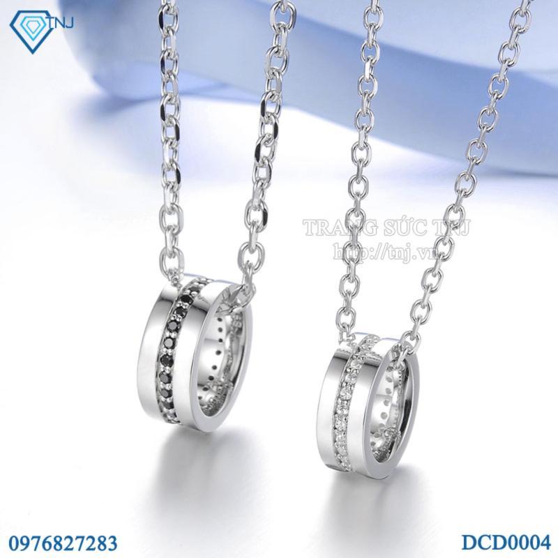 Dây chuyền cặp đôi bạc mặt nhẫn đẹp DCD0004 - Trang Sức TNJ