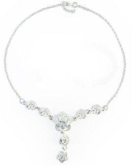 Dây chuyền mặt đá hoa hồng bạc Đ&H472