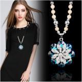 Dây chuyền Dài nữ dáng hoa mặt trời pha lê xanh lấp lánh Phụ kiện Quần áo Chất lượng cao cấp sang trọng Giá tốt Thời trang Phong cách Retro Hàn Quốc Nhật Bản MYL-X0466