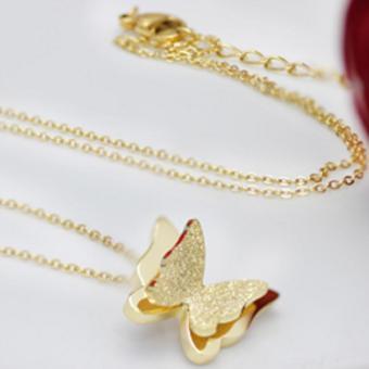 Dây chuyền nữ TiTian cao cấp không phai màu Bướm 3D Xinh Động(TiTan Vàng) - 2