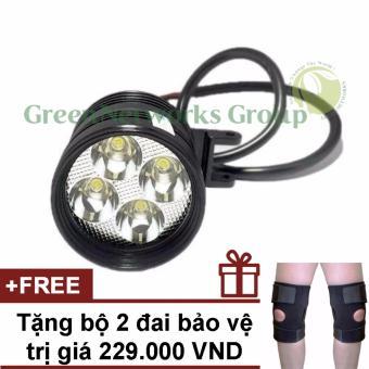 Đèn pha led trợ sáng xe máy phượt L4 GNG + Tặng cặp bảo vệ khớp gối
