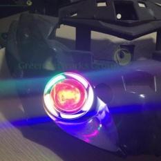 Đèn trợ sáng xe máy giá rẻ u7 GreenNetworks (vòng Angel 7 màu) + Tặng công tắc