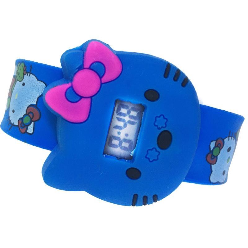 Đồng hồ bản đập họa tiết Mèo (Xanh dương) bán chạy