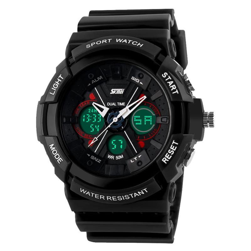 Nơi bán Đồng hồ báo thức chống thấm nước kỹ thuật số Date Mens Sport Wrist Watch Black