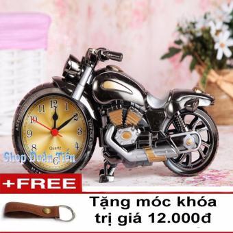 Đồng hồ báo thức mô hình Motor (Xám)( TẶng móc khóa da)
