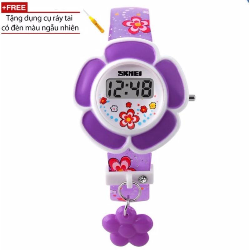 Đồng hồ bé gái dây nhựa Skmei 1144 (Tím) + Tặng kèm dụng cụ soi tai có đèn trị giá 50 ngàn đồng bán chạy