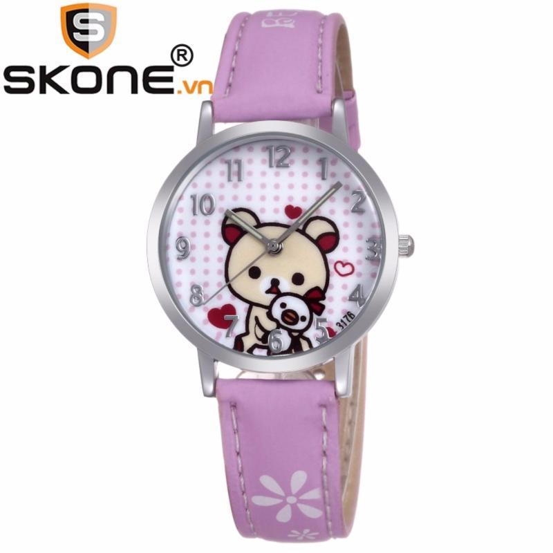 Đồng hồ bé gái SKONE - dây da 3176-4 bán chạy