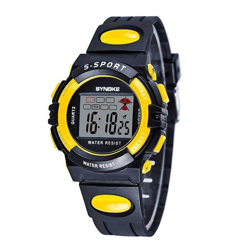 Đồng hồ bé trai dây cao su Synoke 99268 (Đen viền vàng) bán chạy