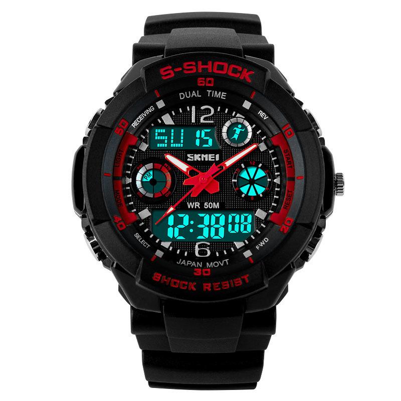 Đồng hồ bé trai dây nhựa Skmei 0931L (Đen kim đỏ) bán chạy