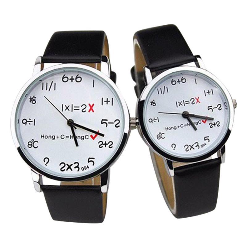 Nơi bán Đồng hồ cặp dây da toán học