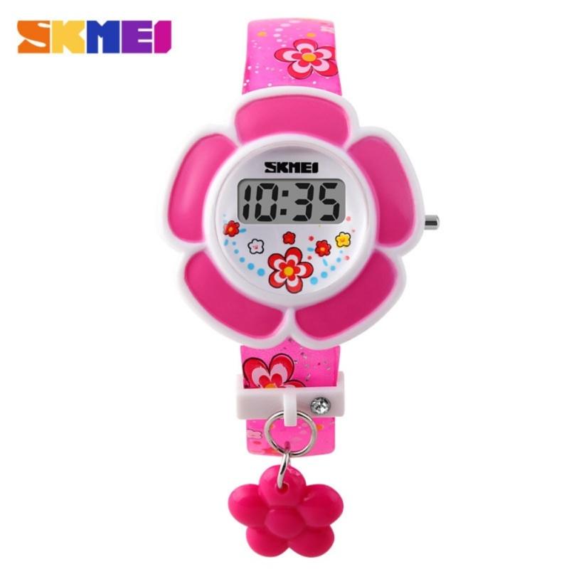 Đồng hồ cho bé gái hình bông hoa Skmei 1144 (Hồng) bán chạy