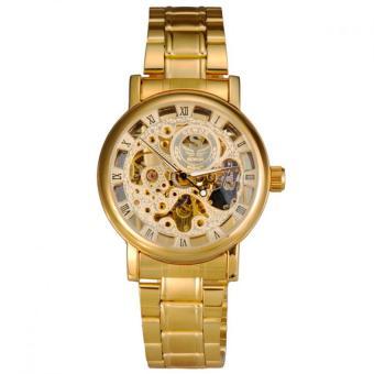 Đồng hồ cơ lộ máy nam SEWOR dây thép không gỉ SW2291 (Vàng)