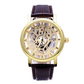 Ở đâu bán Đồng hồ dây da kim trang trí lộ cơ GE057 (Nâu)