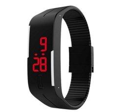 Đồng hồ dây nhựa dẻo Sport LED (Đen)