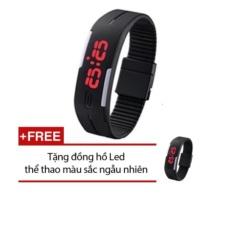 Đồng hồ đèn led thể thao (Đen) + Tặng 1 đồng hồ Led thể thao màu sắc ngẫu nhiên
