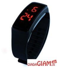 Đồng hồ Đèn LED Unisex Dây Silicone