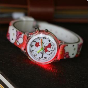 Đồng hồ đeo tay cho bé gái helo Kitty có đèn led