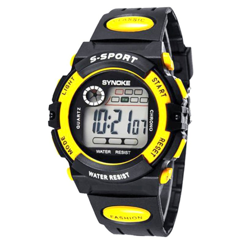 Đồng hồ đeo tay chống thấm nước đa năng cho trẻ em (Vàng) - Quốc tế bán chạy