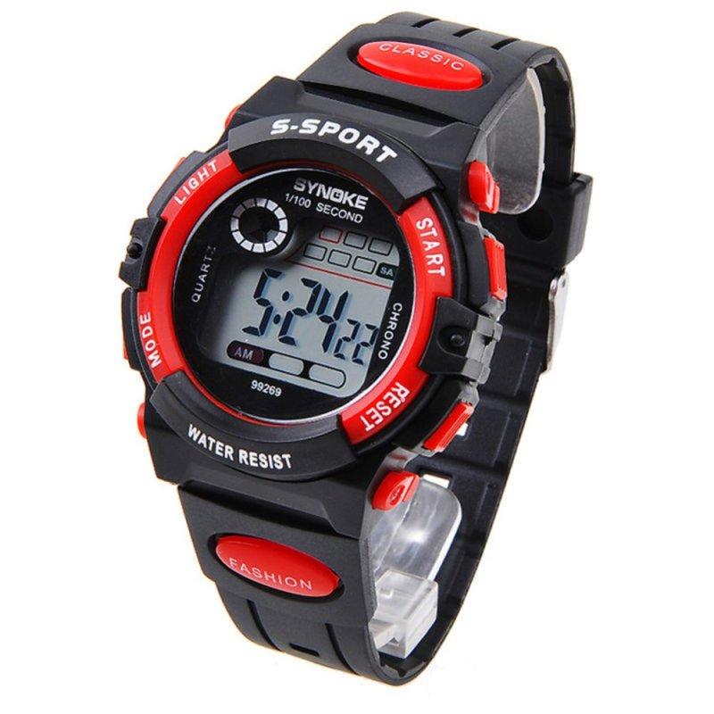 Nơi bán Đồng hồ đeo tay điện tử ( Màu xanh đỏ) thể thao dành cho thanh thiếu niên và trẻ em loại chống nước nhiều chức năng.