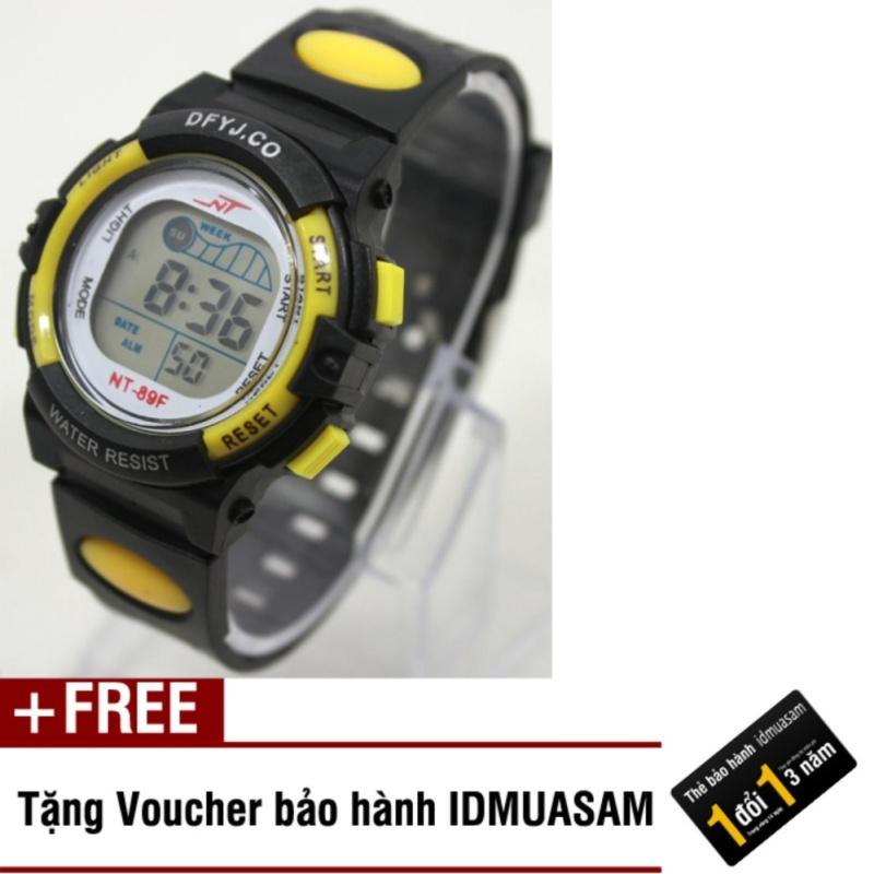 Đồng hồ điện tử trẻ em IDMUASAM 2443 (Vàng) + Tặng kèm voucher bảo hành IDMUASAM bán chạy
