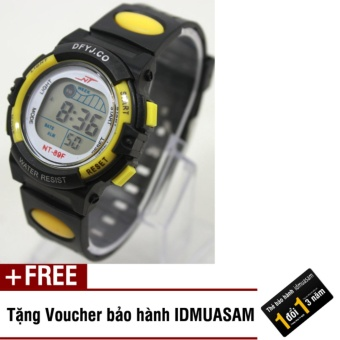Đồng hồ điện tử trẻ em IDMUASAM 2443 (Vàng) + Tặng kèm voucher bảo hàn...