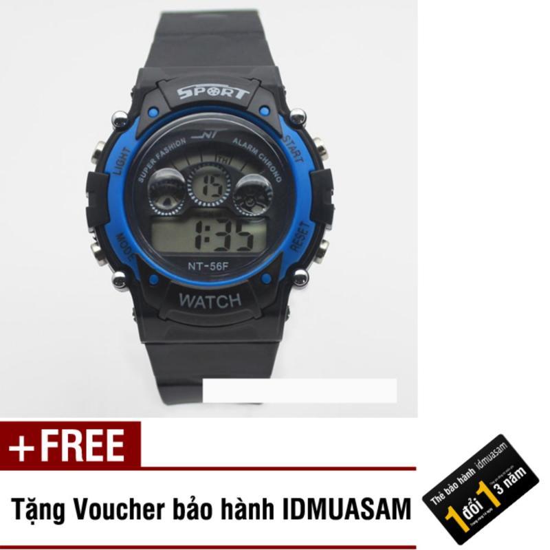 Đồng hồ điện tử trẻ em IDMUASAM 7461 (Xanh dương) + Tặng kèm voucher bảo hành IDMUASAM bán chạy