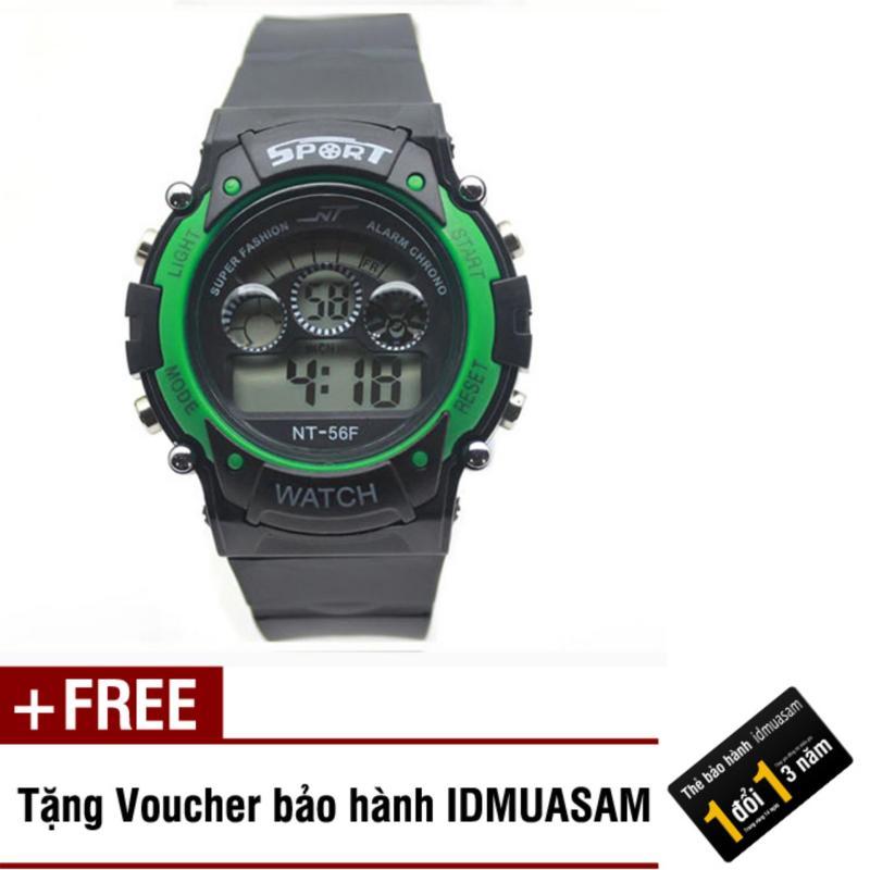 Nơi bán Đồng hồ điện tử trẻ em IDMUASAM 7465 (Xanh lá) + Tặng kèm voucher bảo hành IDMUASAM
