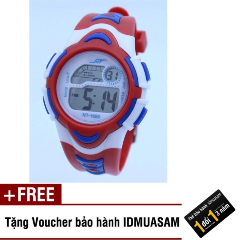 Đồng hồ điện tử trẻ em IDMUASAM 7892 (Đỏ) + Tặng kèm voucher bảo hành IDMUASAM bán chạy