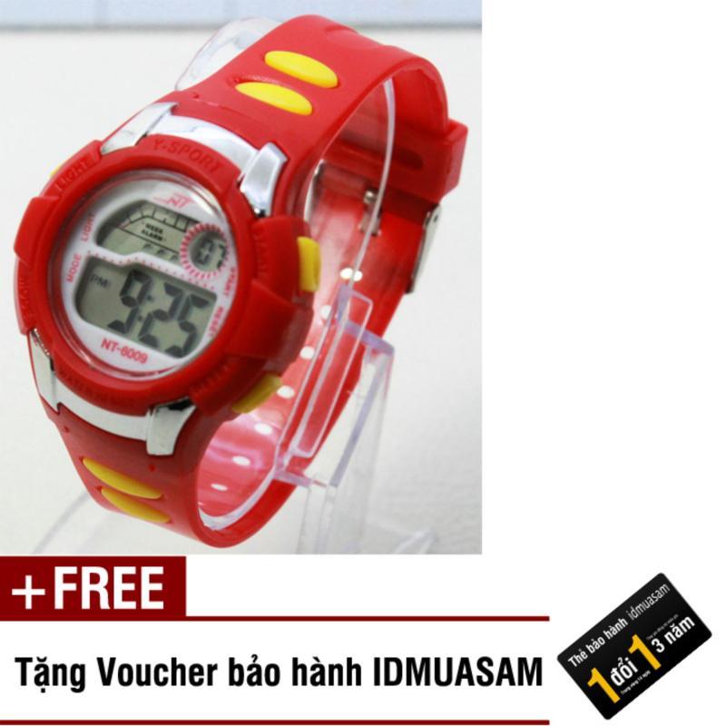 Nơi bán Đồng hồ điện tử trẻ em IDMUASAM 7912 (Đỏ) + Tặng kèm voucher bảo hành IDMUASAM